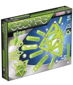 Geomag Color Glow 40 pcs, jeu magnétique