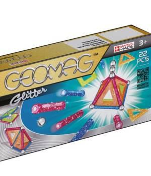 Geomag Glitter 22 pcs, jeu magnétique