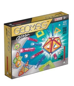 Geomag Glitter 44 pcs, jeu magnétique