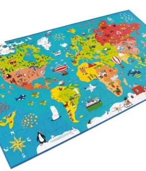 Puzzle carte du monde, un jeu Scratch