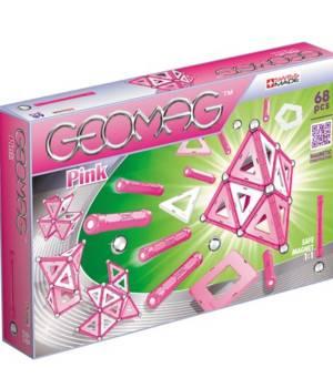 Geomag Pink 68 pcs, jeu magnétique