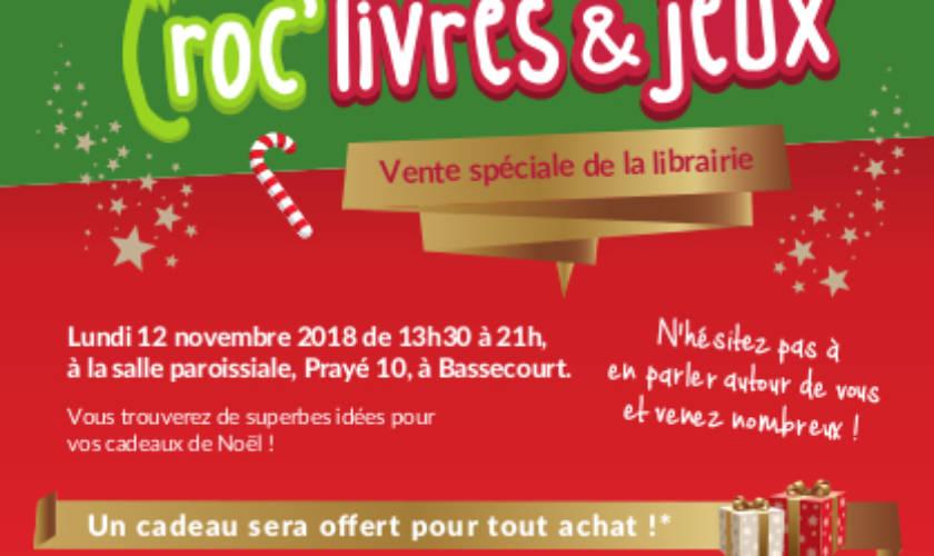 Porte ouverte Croc'livres et jeux – 12 novembre 2018