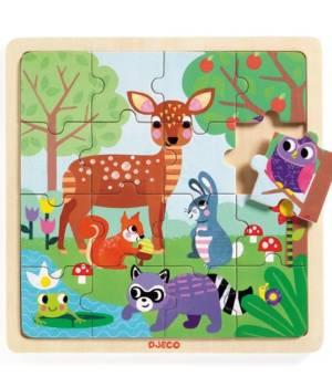 Puzzle en bois forest