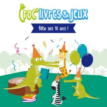 Croc'livres et jeux fête ses 10 ans !