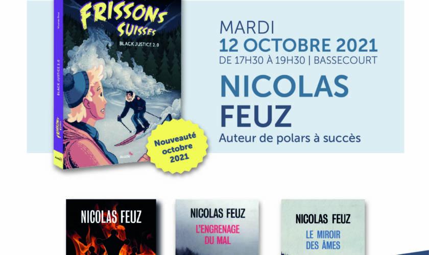 Mardi 12 octobre : dédicace de Nicolas Feuz